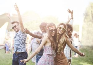 Enthusiastic,Crowd,Surfing,At,Music,Festival